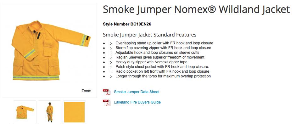 Smoke Jumper Nomex® Wildland Jacket