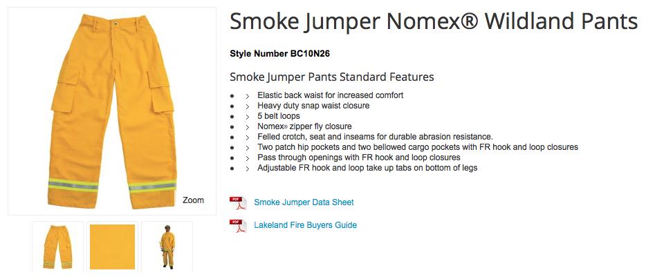 Smoke Jumper Nomex® Wildland Pants